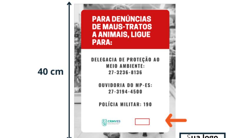 CRMV-ES disponibiliza dois modelos de cartazes de acordo com a lei (3)